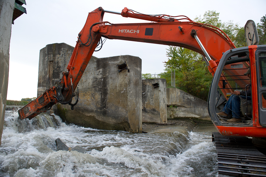The DNR is seeking applications for its Dam Management Grant Program to fund the removal, repair or maintenance of dams across Michigan. Shown here is the removal of Shiatown Dam, funded in 2012.