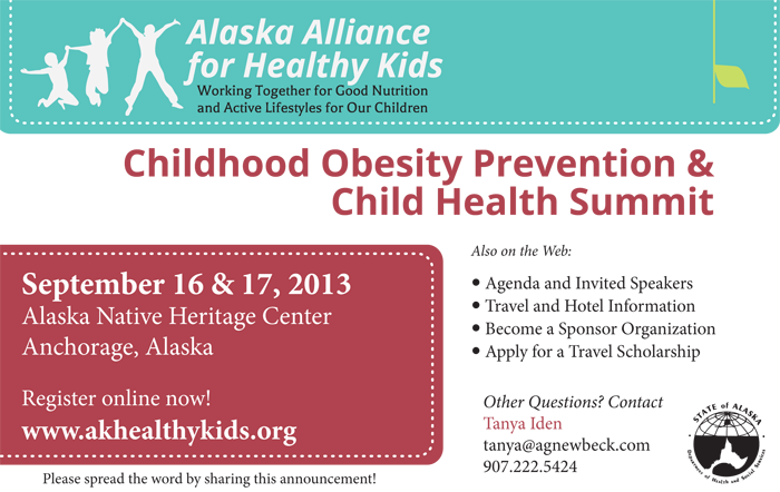 AK Alliance for Healthy Kids and Child Health Summit Announcement