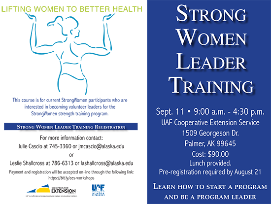 MatSu Strong Women Leader Training, Sept 11, 2015
