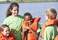 Children in life jackets