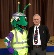 Supervisor Valle with Super Weevil