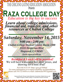 Raza Day at Chabot College
