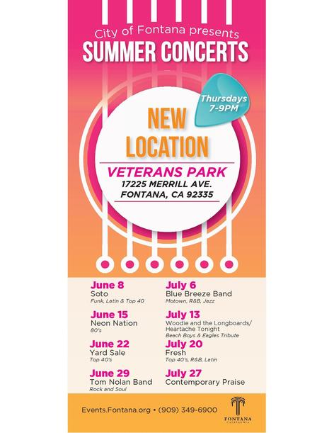 City of Fontana 2017 Summer Concerts