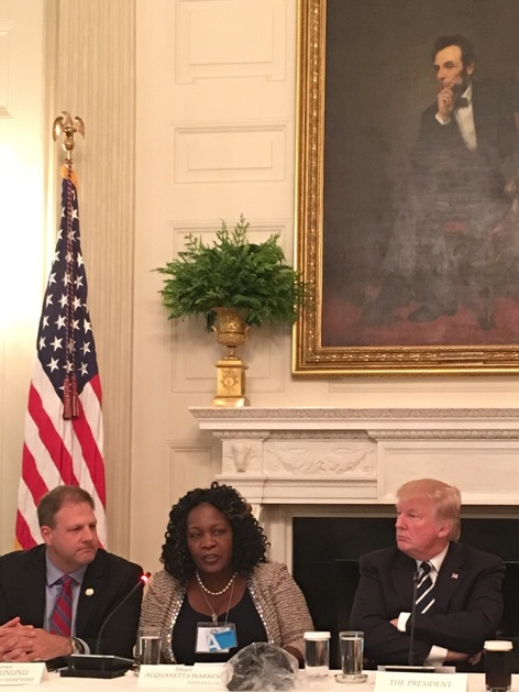 Mayor Warren with President Trump