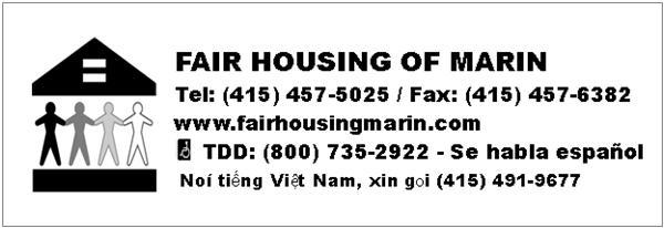 Fair Housing of Marin Contact Information