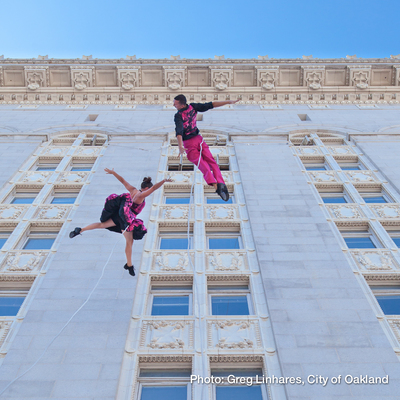 Bandaloop on City Hall