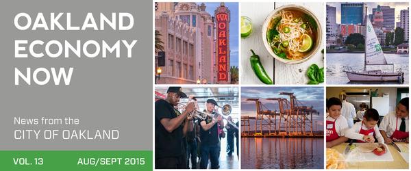 Masthead Oakland Economy Now Volume 13 August/September