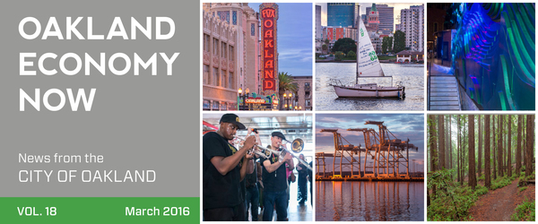 Oakland Economy Now Newsletter Masthead March 2016