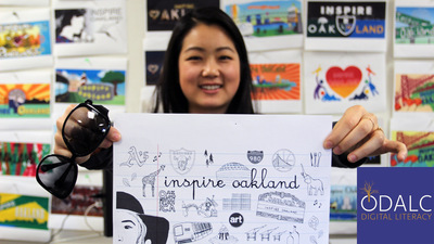 Oakland Digital Photo of Inspire Oakland campaign