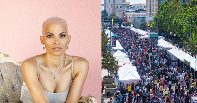Goapele and Art and Soul Crowd shot