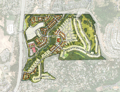 Oak Knoll Aerial Image of Proposed Development