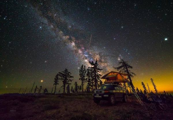 Photo of the week. Camping under the stars.