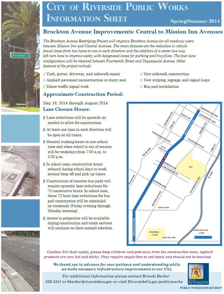 City of Riverside Public Works Information Sheet