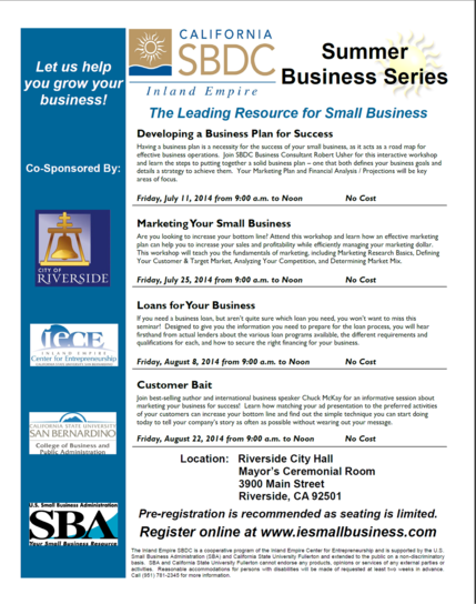 Summer Business Series