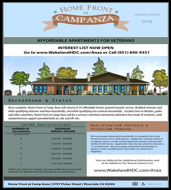 Home Front Camp Anza