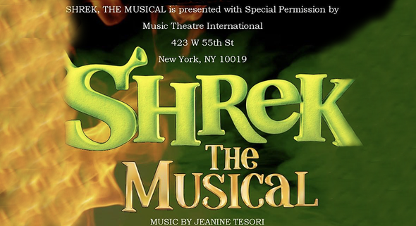 Stand Out Talen poster, Shrek, the Musical, horizontal
