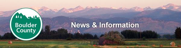 Boulder County Press Release