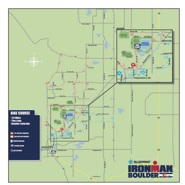 Boulder Ironman Bike Course Map