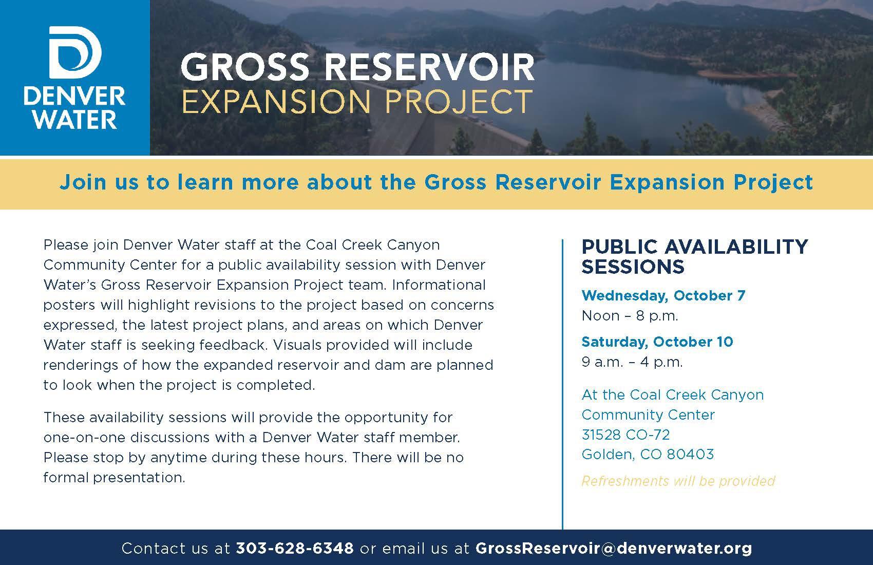 Denver Water Gross Reservoir Expansion Project