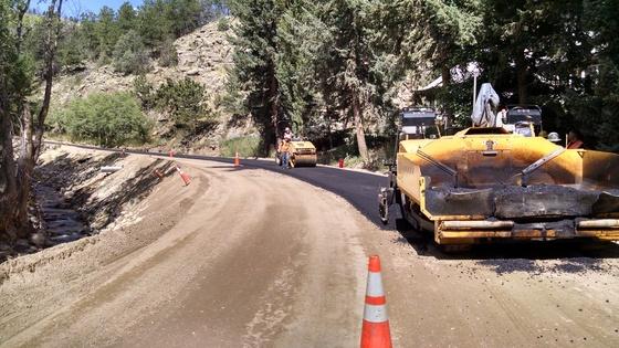 A photo of Fourmile Canyon Drive temporary repairs
