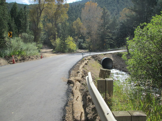 Temporary paving on Lefthand Canyon Drive