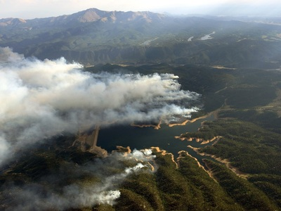 Aerial fire reservior