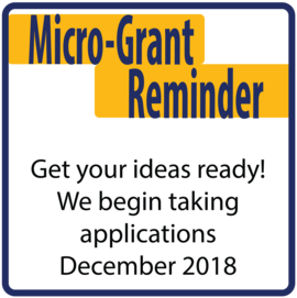 Apply for a Microgrant in December