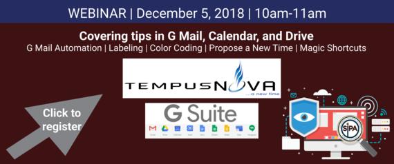 Tempus Nova G Suite Webinar