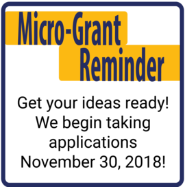 Micro-Grant Application opens this month