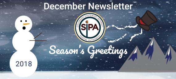 December 2018 Header, Snowman looses hat, season's greetings