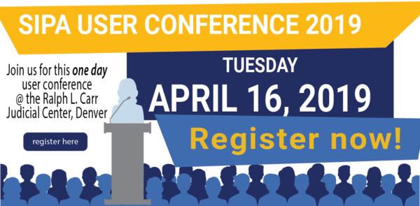 Register for the User Conference April 16, 2019 TODAY