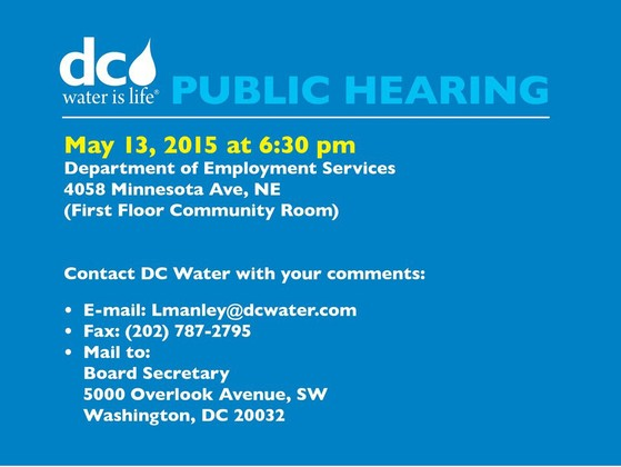 DC Water Public Hearing