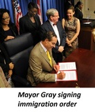 Mayor Signing Immigration Order