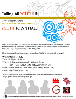 AAPI Youth Town Hall Meeting on March 17