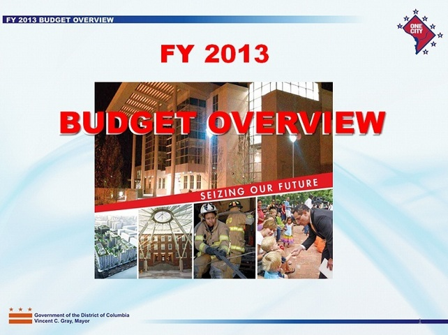 DC FY2013 Budget