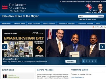 DC Mayor's New Website