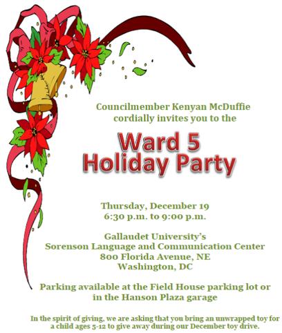 Ward 5 Holiday Party - Dec 19