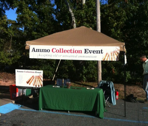 Ammo collection tent.