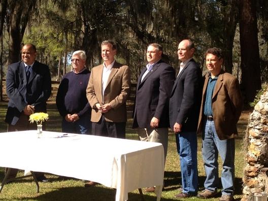 Stakeholders at Santa Fe BMAP signing
