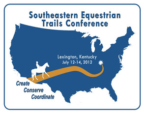 Southeastern Equestrian Trails Conference Logo which will be held July 12-14 in Lexington, KY