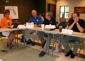 Florida National Scenic Trail (FNST) committee members meet to discuss the 5 Year Strategic Plan at Mission San Luis in Tallahassee, FL