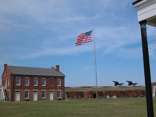 Flag over Fort Clinch