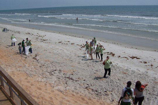 Beach cleanup in 2011