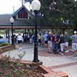 Visitors enter Silver Springs State Park on opening day.