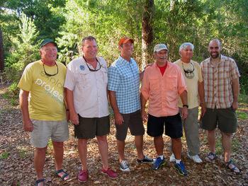 Six CT thru-paddlers at gathering