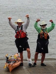 Thru paddlers Jim Windle and Marc DeLuca