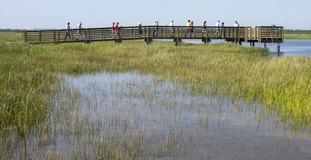 group at Pine Glades fishing piere