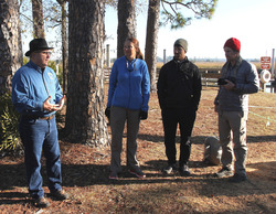State Park Director Donalf Forgione speaks to expedition members