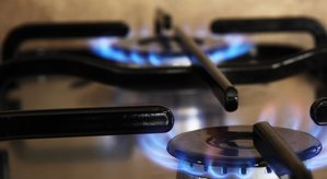 gas stove flames and burner