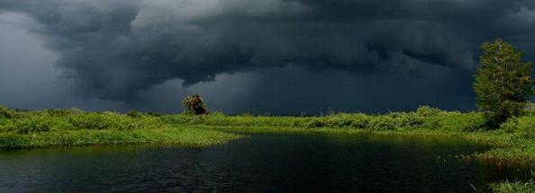 Kissimmee River State Park stormy looking sky photo by Brent Anderson